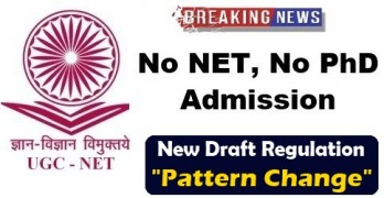 No PhD Admission Without NET