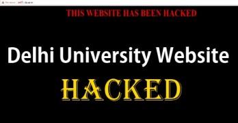 Delhi University Website Hacked