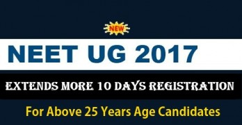 NEET 2017 Registration for Above 25 Age