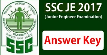 SSC JE Answer Key 2017 Tier 1