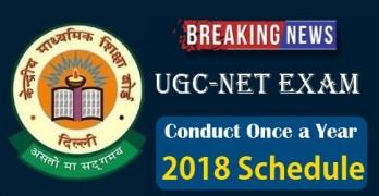 UGC NET 2018 Dates