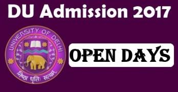 DU Admission 2017 Open Days
