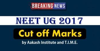 NEET UG 2017 Cut off