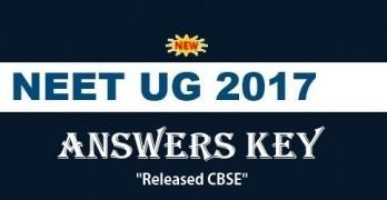 NEET UG 2017 Answer Key