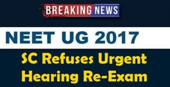 SC Refuses Urgent Hearing Re-exam
