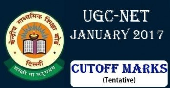 UGC NET JAN 2017 Cutoff