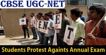 CBSE UGC NET 2017 Students Protest