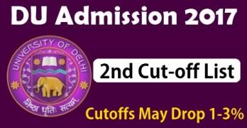 DU Second Cutoff 2017
