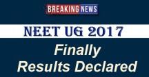 NEET UG 2017 Results