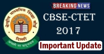 CBSE CTET 2017 Notification