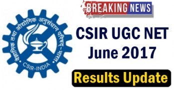 CSIR NET June 2017 Results