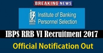 IBPS RRB VI Official Notification 2017
