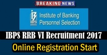 IBPS RRB VI 2017 Registration