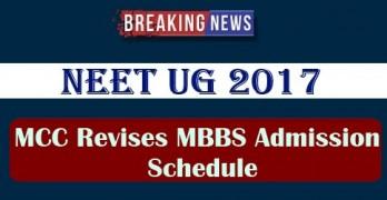 MCC Revises MBBS Admission Schedule