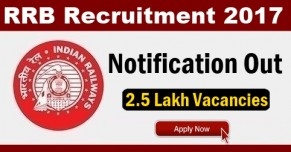 RRB 2017 Notification