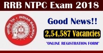 RRB NTPC 2018 Application Form