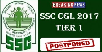 SSC CGL 2017 Exam Postponed
