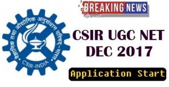 CSIR UGC NET 2017 Application