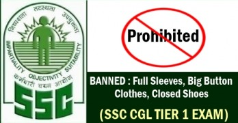 SSC CGL Tier 1 Exam 2017 Prohibited