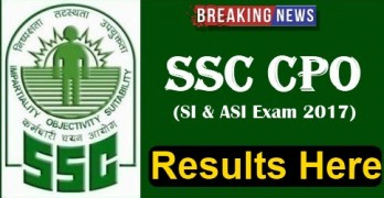 SSC CPO 2017 Results