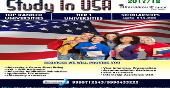 Study In USA – On Spot Admission