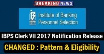 IBPS CWE Clerks VII Notification