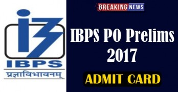 IBPS PO Prelims 2017 Admit Card