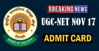 UGC NET NOV 2017 Admit Card