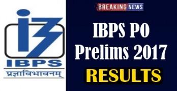 IBPS PO Prelims Result 2017