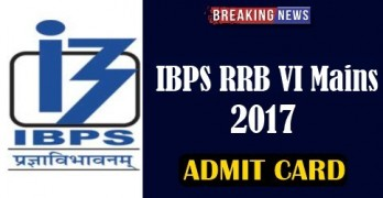 IBPS RRB VI Main 2017 Admit Card