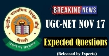 CBSE UGC NET 2017 Expected Questions
