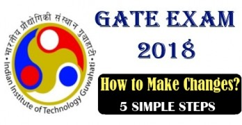 How to Make Changes in GATE 2018