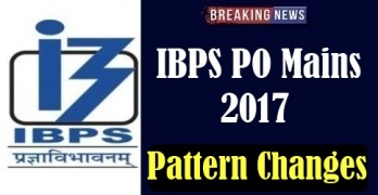 Changes in IBPS PO Mains 2017