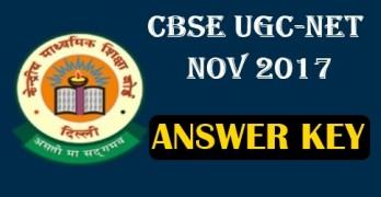 UGC NET Nov 2017 Answer Key