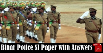 Bihar Police SI Question Paper with Answers
