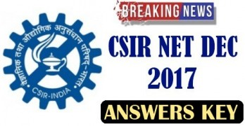 CSIR NET Answer Key December 2017