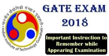 Gate 2018 Important Instruction