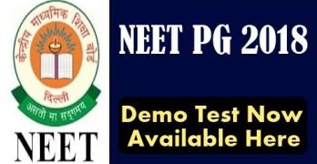 NEET PG 2018 Demo Test
