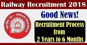 Railways Recruitment Process from 2 years to 6 months