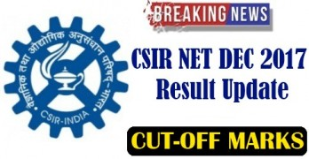 CSIR NET Dec 2017 Cut off