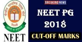 NEET PG Cut off  2018