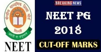 NEET PG Cut off  2018