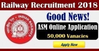 RRB ASM 2018 Online Application