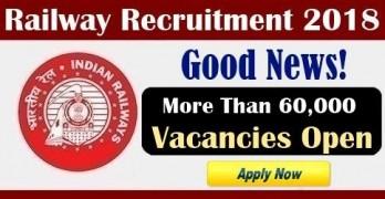 RRB Exam 2018 Vacancies 60000