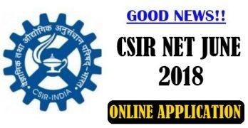 CSIR NET June 2018 Application