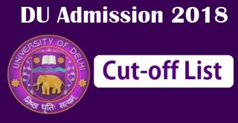 DU Cut off 2018