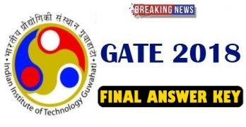 GATE 2018 Final Answer Key