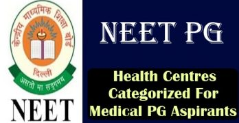 Health Centres Categorized For Medical PG Aspirants