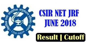 CSIR NET Result June 2018