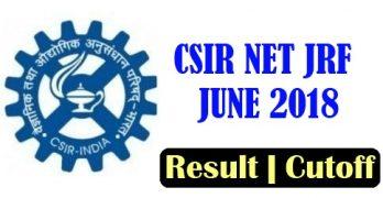 CSIR NET Result June 2018
